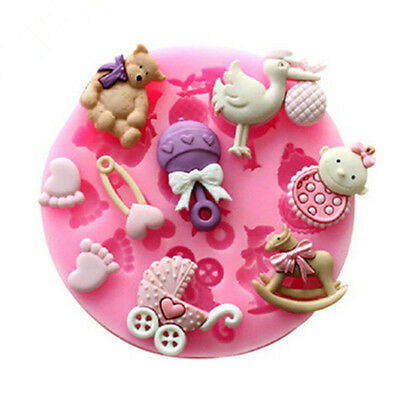 3D Baby Theme Fondant Cake Cupcake Candy Cutter Silicone Mold Jelly DIY Decor