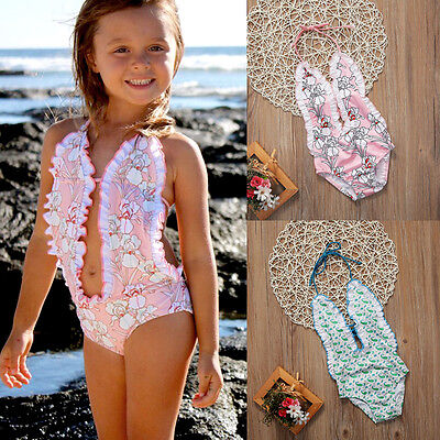 Kids Baby Girls Bikini Set Bathing Swimsuit Swimwear Swimming Suit Beachwear C