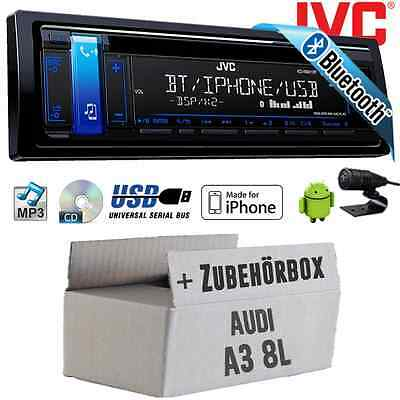 Audi A3 8L JVC Radio COCHE coche Bluetooth CD MP3 USB Android iPhone Autorradio