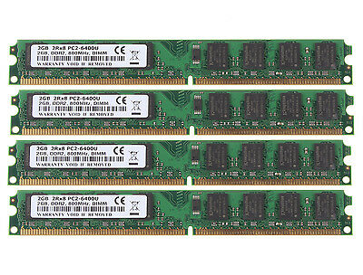 New 8GB 4X 2GB PC2-6400U DDR2 800Mhz 240pin DIMM For Intel RAM Desktop Memory