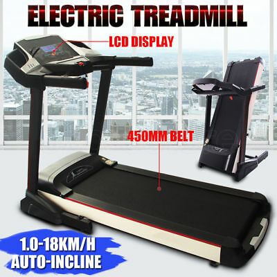 3.5HP Electric Treadmill Exercise Equipment Running Machine Fitness Home Gym NEW