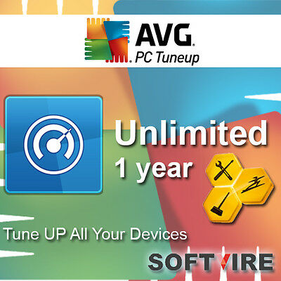 AVG PC TuneUp 2017-1 YEAR - UNLIMITED DEVICES PC, MAC, ANDROID