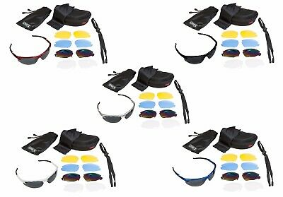 CHEX Ace Sailing Sunglasses Sportsglasses 5 Lens Sets Inc Tinted Yellow & Clear