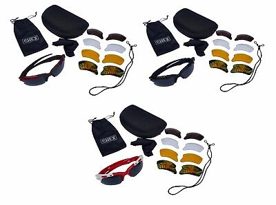CHEX Europa Cricket Sunglasses Sportsglasses 5 Lens Sets Inc Tinted Mirrored