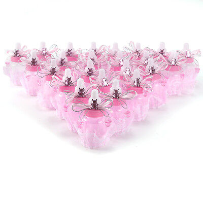 Candy Box Baby Shower Bottle Baptism Party Favours Gift with Crystal Bear Pink