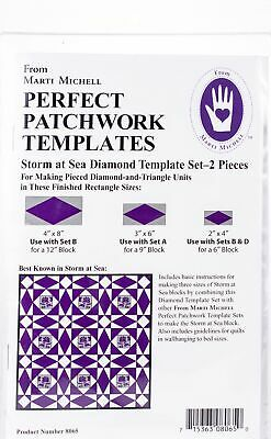 Marti Michell 8065M Perfect Patchwork Template-Storm At Sea 2/Pkg