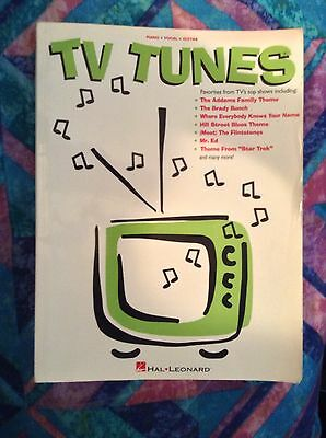 Hal Leonard T.V. Tunes Songbook Piano Vocal Guitar Sheet Music Television Lyrics
