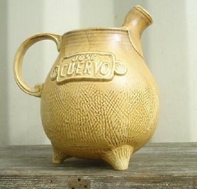 1975 Jose Cuervo Pot Belly Jug Mexican Pottery Pitcher Tequila Hublein Barware