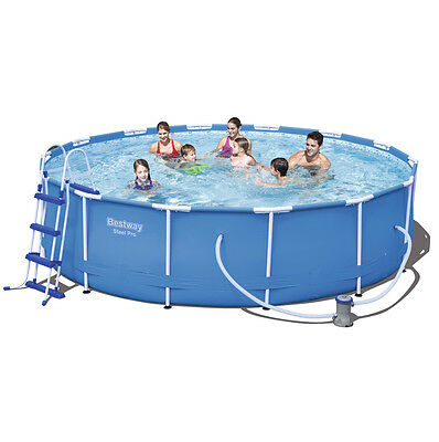 """Bestway 14ft x 39.5"""" Steel Pro-Frame Above Ground Swimming Pool Set (56422)"""