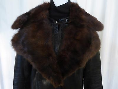 Vtg real mink fur notched collar
