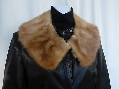 Golden brown real mink  fur collar