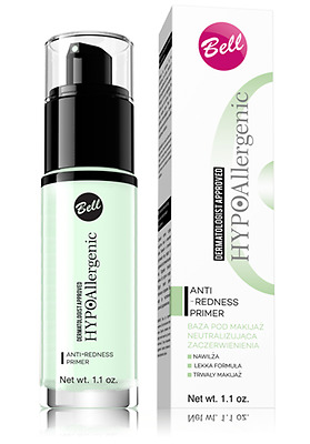 Bell HypoAllergenic Anti-Redness Primer - Gentle Formula With Glycerin 30g