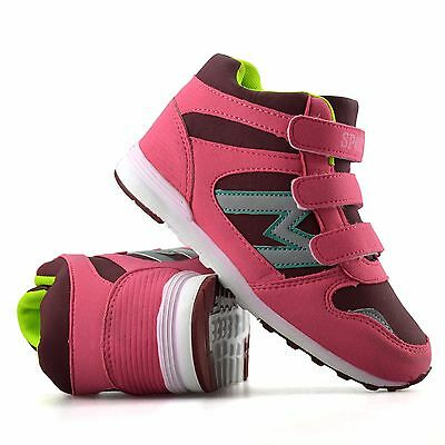 Girls Kids Childrens Casual Touch Strap Walking Hiking Trainers Boots Shoes Size