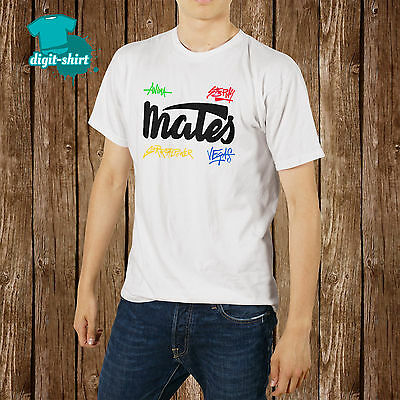 T shirt mates uomo donna Logo Nuovo Firme Youtubers maglietta-Fruit of the loom