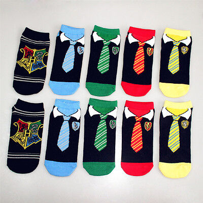 5 Pair Harry Potter Trainer Socks 5 Different Designs Great Quality Gift @