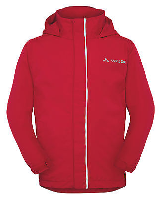 Vaude Kinder Regenjacke, Regen Jacke, Kids Escape Light in rot  Gr: 122 / 128