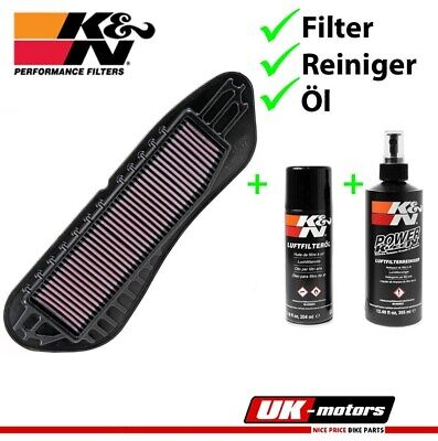 K&N Part exchange Air filters +CARE SET YA-2406 Yamaha VP 125 X - City 2008-2013