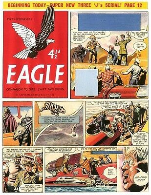 Original Artwork by Frank Hampson. Rogue Planet from Eagle 7/38 1956