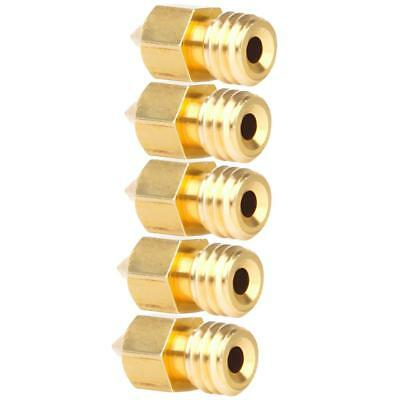 5Pack 0.4mm Extruder Brass Nozzle Print Head for MK8 1.75mm 3D Printer