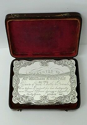 superb victorian solid silver snuff box  NATHANIEL MILLS 1847