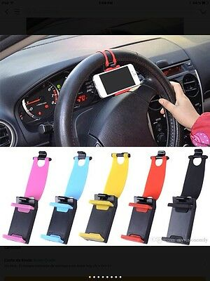 CAR ACCESSORIES UNIVERSAL CAR STEERING WHEEL MOBILE PHONE HOLDER BRACKET iPHONE,