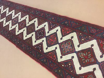 "2'.5"" X 19'.3"" Persian Hamadan Oriental Rug Narrow Long Runner Hand Knotted Wool"