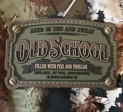 Old School Whiskey Label Army Usa Military 3D Pvc Forest Morale Hook Patch