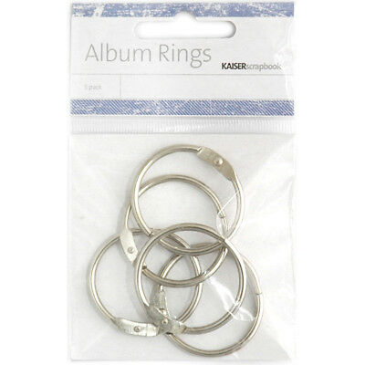 Kaisercraft M009  Split Metal Album Rings 1.38 (3.5cm) 5/Pkg-Silver (3Pk)