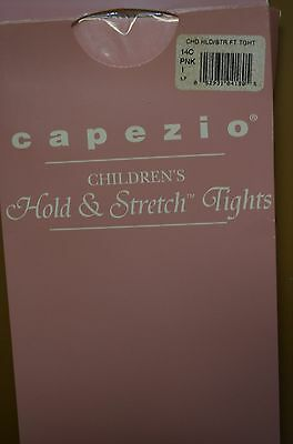 NIP Childrens Capezio Hold and Stretch Pink Dance Tights Size SMALL