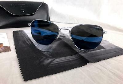 5fbe2ee20f3 Randolph Engineering AVIATOR Sunglasses 55mm AUTHENTIC AF54668-PC Blue  Flash NEW