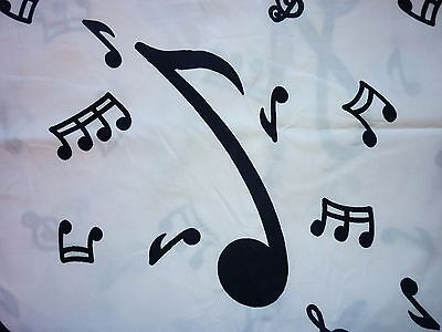 Clearance   Fq Musical Notes Fabric Music White