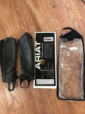 New Ariat Close Contact half chaps S black Used Condition