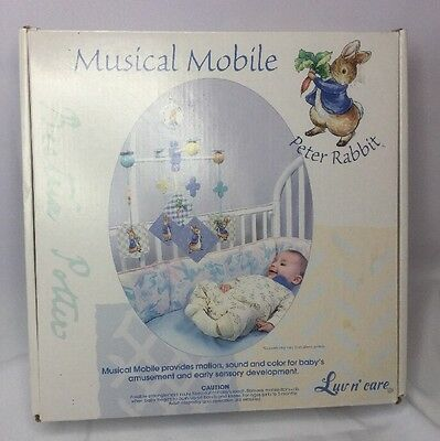 Beatrix Potter Peter Rabbit Baby Musical Mobile Luv n/' care New In Box