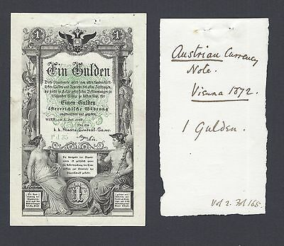Austria One Gulden 7-7-1866 PA150 Issued note Extremely Fine