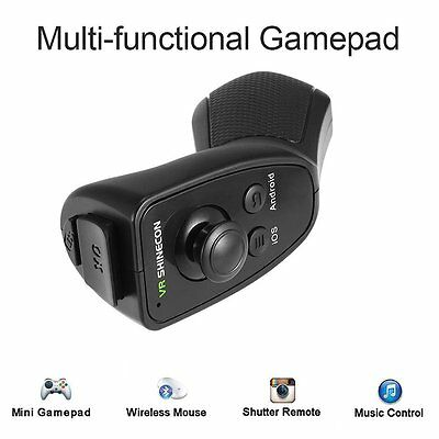 VRShinecon 2017 Mini Bluetooth Game Remote Controller for IOS Android VR Glasses