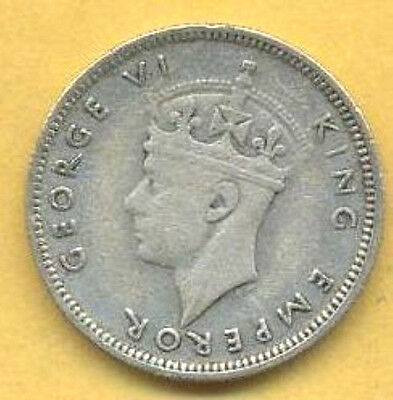 Very Attractive, Vintage 1943 Seychelles 25 Cents.