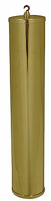 NEW Polished Solid Brass Grandmother Clock Weight Shell - Size 50 x 260mm (WS-9)