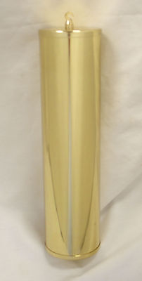 NEW Polished Solid Brass Grandfather Clock Weight Shell - 64mm x 245mm (WS-10)
