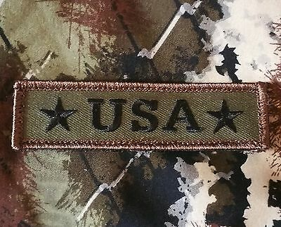 Usa American Stars Army Tab Tactical Military Morale Badge Forest Hook Patch