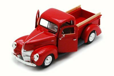 1940 Ford Pick Up Truck, Red - MotorMax 73234 - 1/24 Scale Diecast Model Toy Car