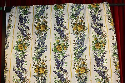 1 PAIR OF  1950s CURTAINS.COTTON FLORAL.
