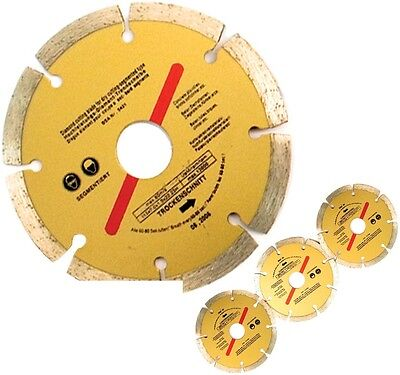 "Diamond Disc 3 x 115mm 4.5"" Cutting Saw Blade Angle Grinder Brick Stone Concret"