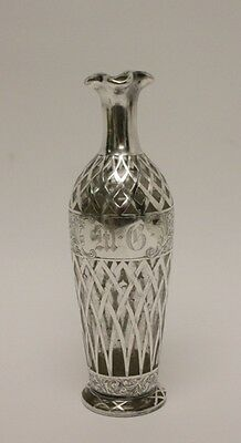 Decanter or Vase with Sterling Silver Overlay Lot 233