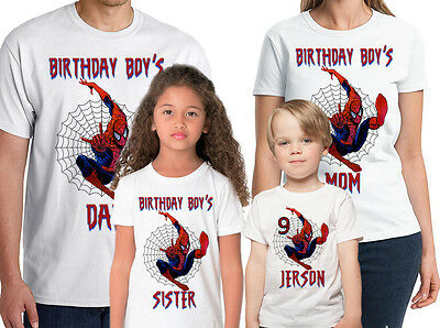 Spider-Man Birthday Shirt Custom Name and Age Personalized Spider-Man Shirt