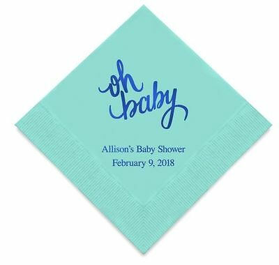 Personalized Printed Baby Shower Pregnancy Announcement Napkins Q27543