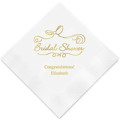 Personalized Printed Bridal Shower Reception Party Napkins Q27541