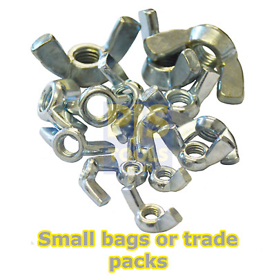 Butterfly zp metric wing nuts zinc plated M3, 4, 5, 6, 8, 10, 12 bags or boxes