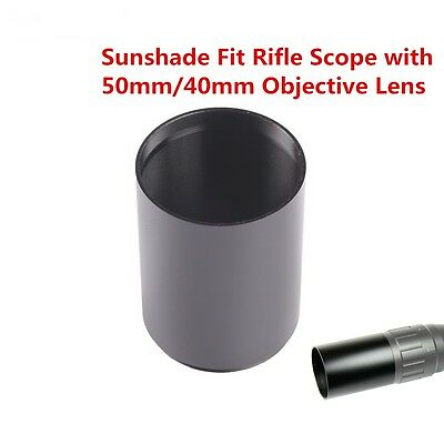 Metal Tactical Sunshade Tube Shade for Rifle Scope with 40mm/50mm Objective Lens