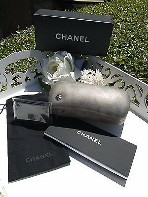 NEW CHANEL Sunglass Case, COMPLETE SET, Box, Cleaning Cloth, Pouch, Book