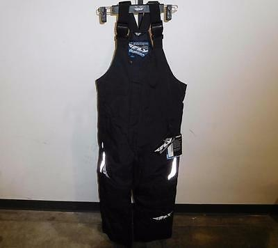 New Fly Racing Aurora Black Waterproof Reflective Snowmobile Riding Bib Pant S